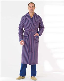 Striped Cotton Dressing Gown