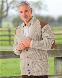 Natural Fishermans Rib Cardigan