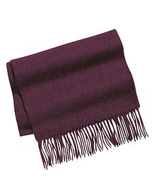 Aubergine Pure Lambswool Scarf