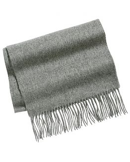 Grey Pure Lambswool Scarf
