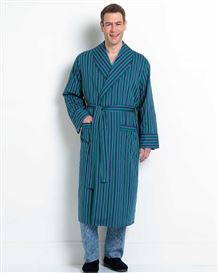 Cotton Strpe Dressing Gown