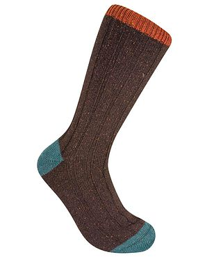 Scott Nichol Contrasting Toe & Top Socks - Brown