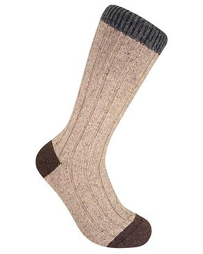 Scott Nichol Contrasting Toe & Top Socks - Natural