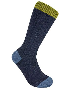 Scott Nichol Contrasting Toe & Top Socks - Navy