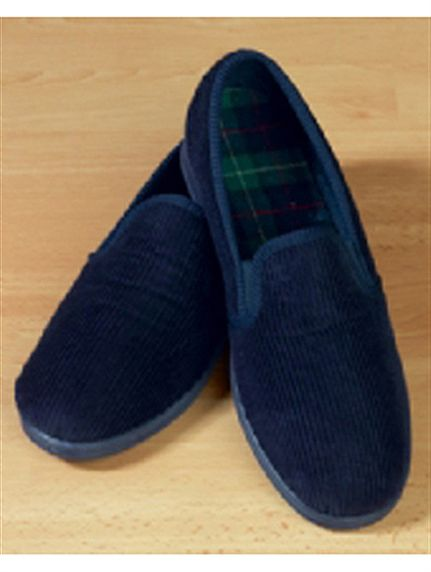 Men 39 s slippers with rubber sole and fabric upper in sizes 7 12 for Mens bedroom slippers size 14