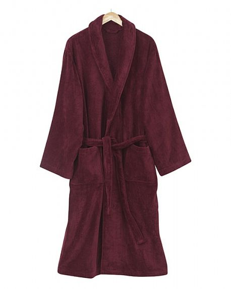 Velour Dressing Gown cut from luxurious soft towelling Size M - XXL
