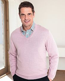 Merino Dusky Pink V neck Sweater