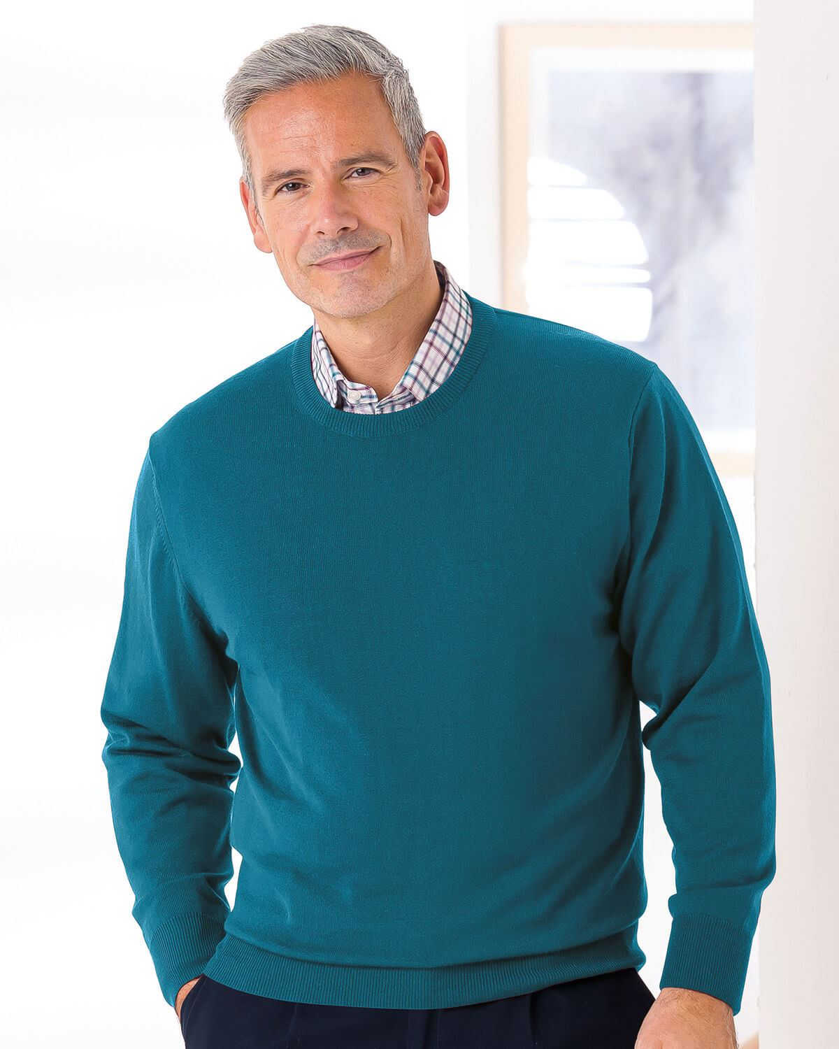 Merino Crew Neck Sweater - Mens