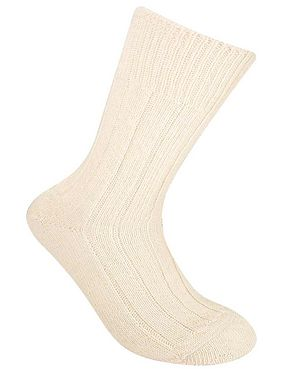 Alpaca Bed Socks - Cream