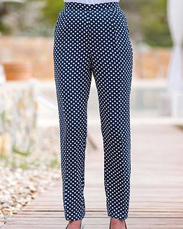 Fearne Patterned Viscose Trousers