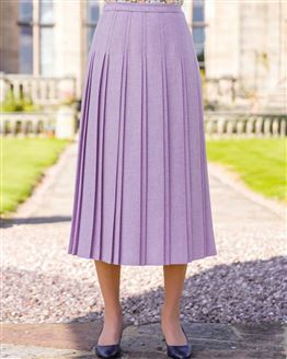 Alicante Pure Shetland Wool Pleated Skirt