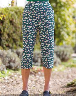 Alanis Floral Supersoft Viscose Cropped Trousers