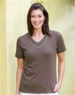 TIGI V Neck Top