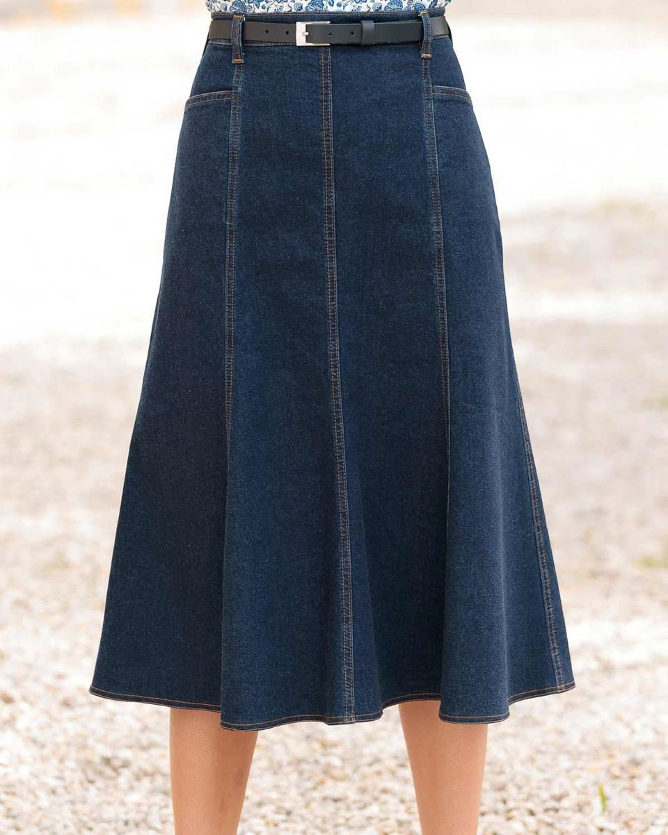 378c383a18e Ladies A-Line Denim Skirt Available in 3 Lengths Sizes 10 - 24