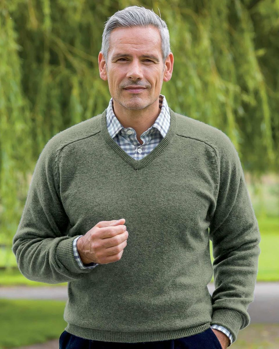 Lambswool V Neck Sweaters available in 14 colours