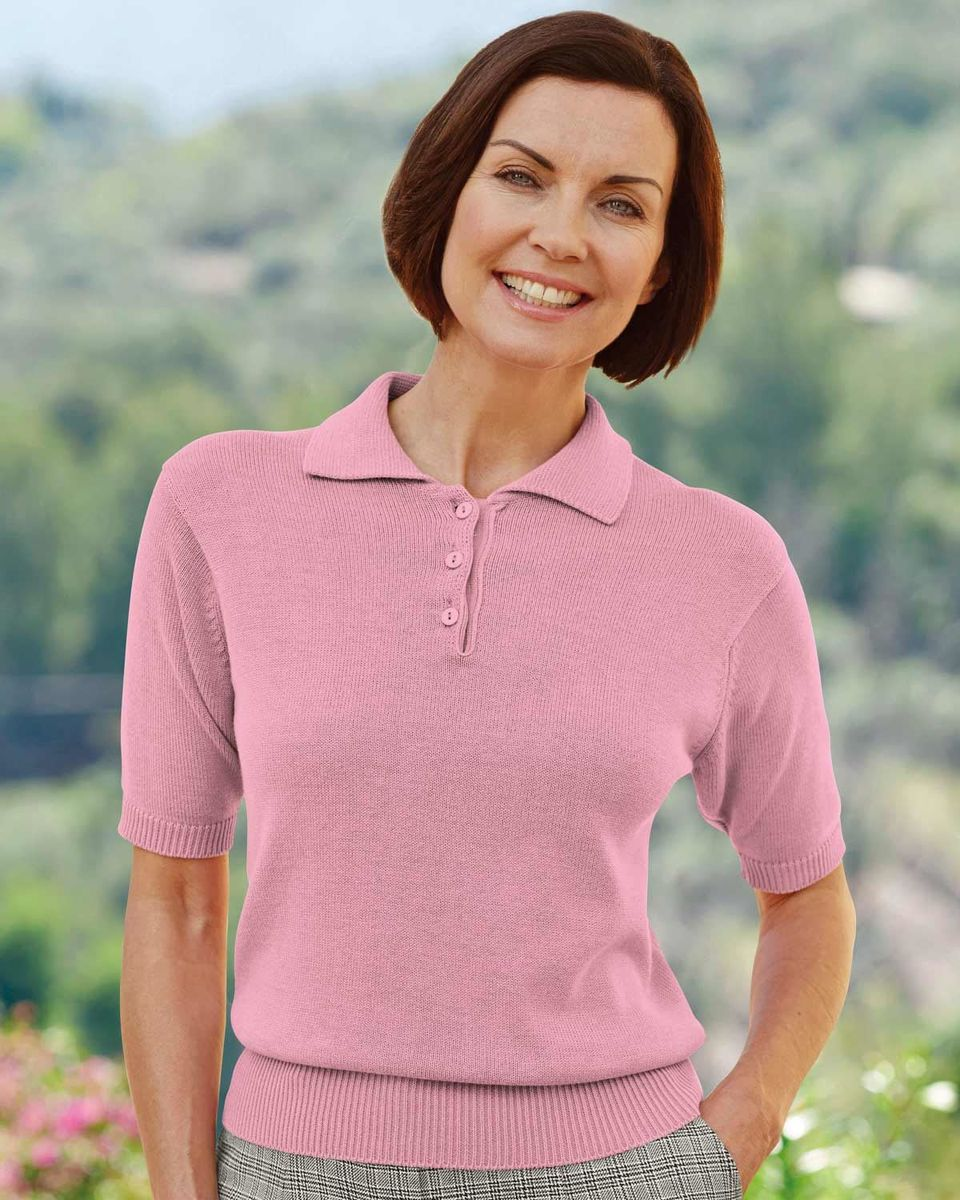 ladies knitted polo shirt Shop Clothing & Shoes Online