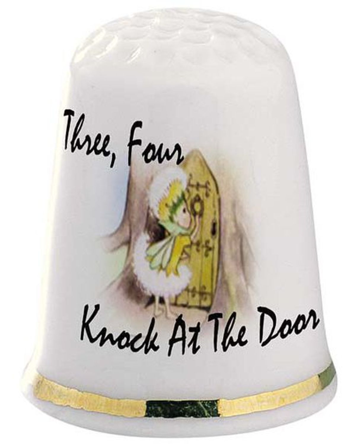 Childrens Classic Nursery Rhyme Thimble - Three Four Knock At The Door  sc 1 st  The Thimble Guild & Childrens Classic Nursery Rhyme Thimble - Three Four Knock At The Door