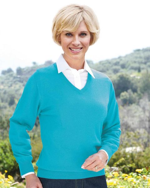 Merino V neck Sweater  Ladies