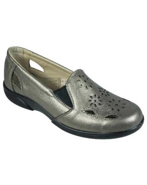 Easy B Gold Leather Hedge Shoe