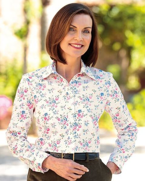 Freya Multi Coloured Pure Cotton Blouse