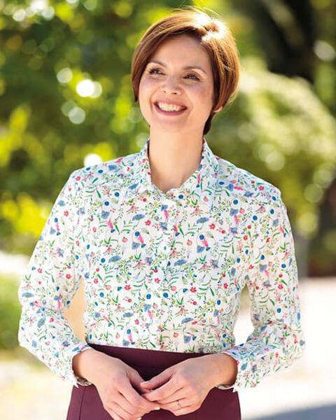 Pippa Multi Coloured Pure Cotton Liberty Blouse