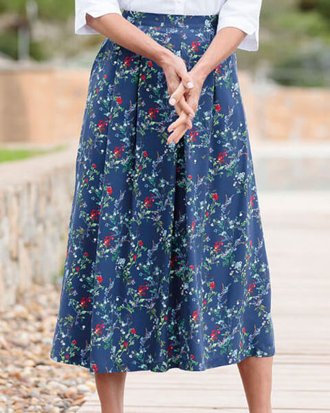 Martina Multi Coloured Supersoft viscose Skirt