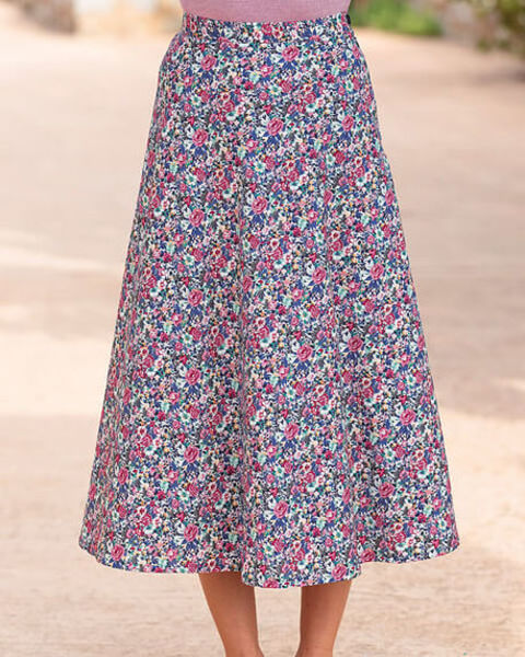 Margarite Multi Coloured Pure Cotton Skirt