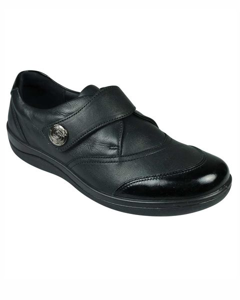 Padders Velcro Leather Gaby Shoe