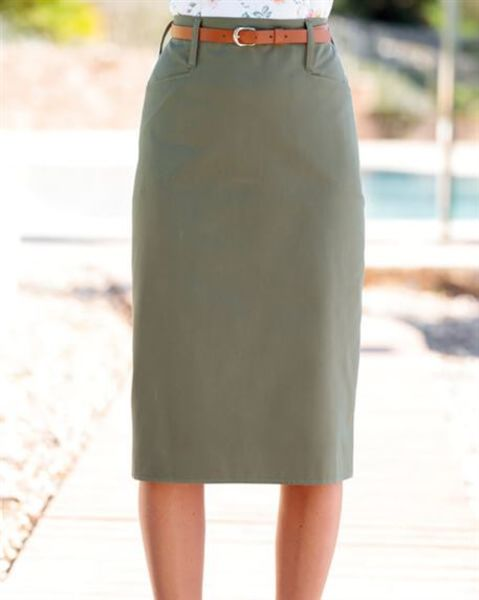Chino Pure Cotton Twill Straight Skirt