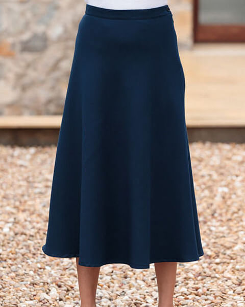 Navy Double Layer Skirt
