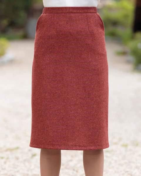 Rothbury Pure Wool Russet Tweed Straight Skirt