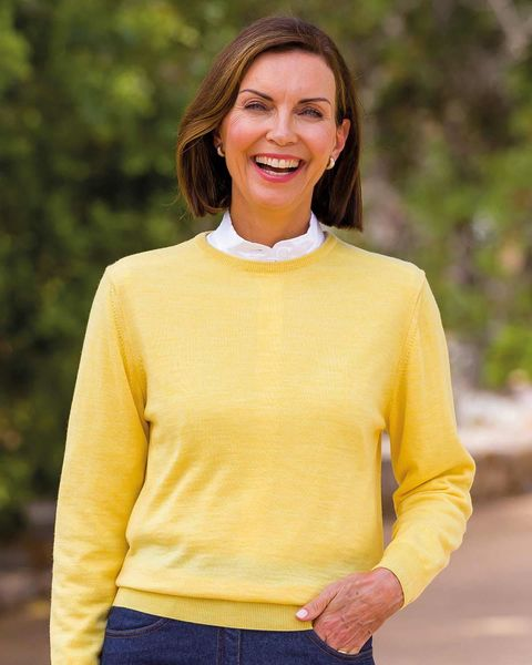 Merino Wool Crew Neck Sweater  Ladies