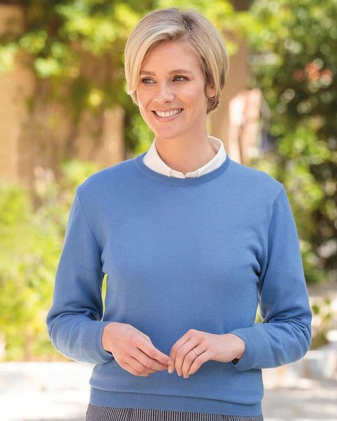 Merino Wool Crew Neck Sweater - Ladies