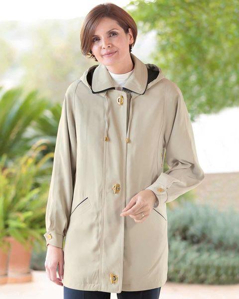 Faux Silk Showerproof Jacket