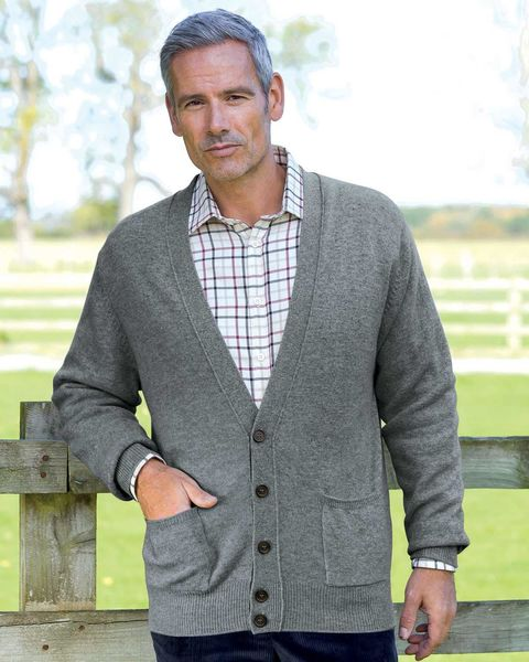 Lambswool Cardigan - Mens