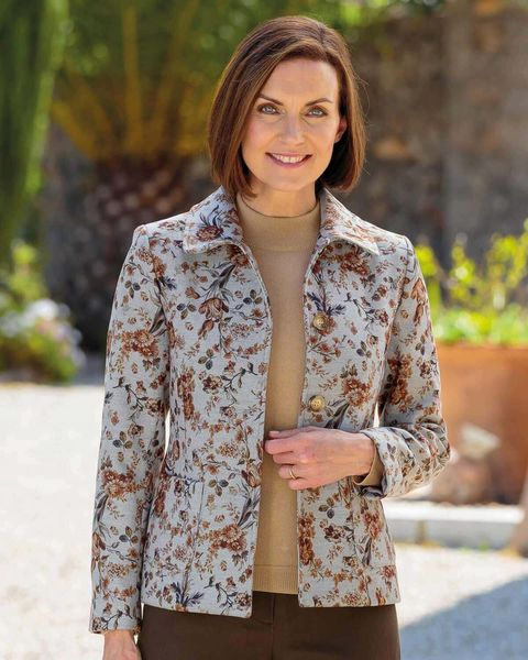 Carla Poly Mix Floral Jacket