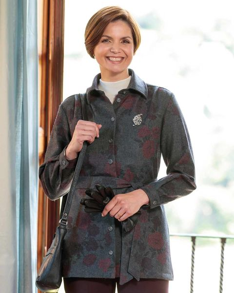 Beverley Wool Mix Floral Jacket