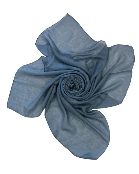 Silk Mix Denim Blue Scarf
