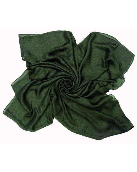 Silk Mix Green Scarf