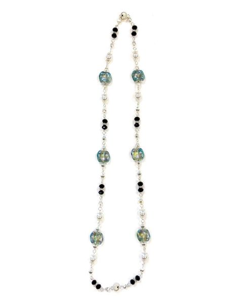 Tonal Glass & Bead Necklace