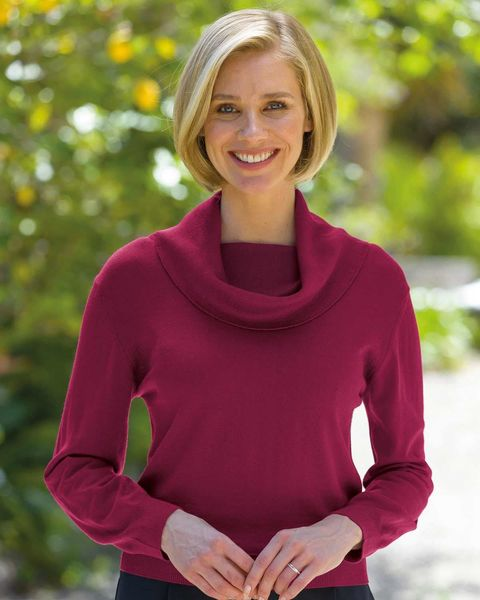Merino Wool Cowl Neck Sweater