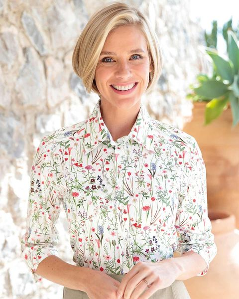 Nadine Floral Pure Cotton Blouse