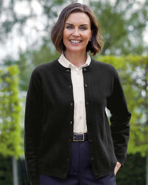 Lambswool Cable Cardigan