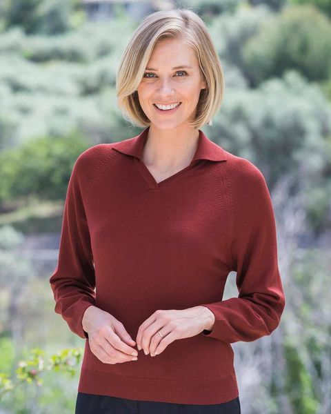 Merino Chilli Collared V Neck