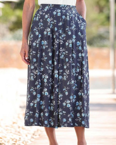 Emma Floral Supersoft Viscose Skirt