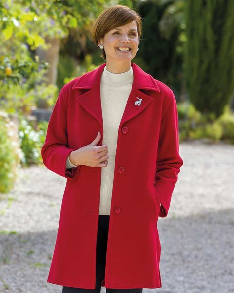 Red Buckland Coat