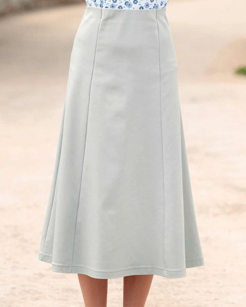 Easycare Grey Pull On Skirt