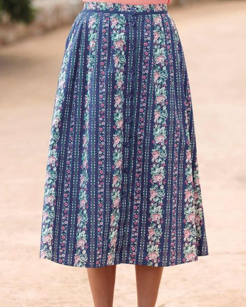 Rambling Rose Floral Pure Cotton Skirt