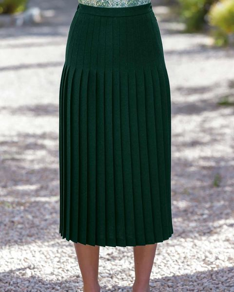 Corbridge Pure Wool Pleated Skirt
