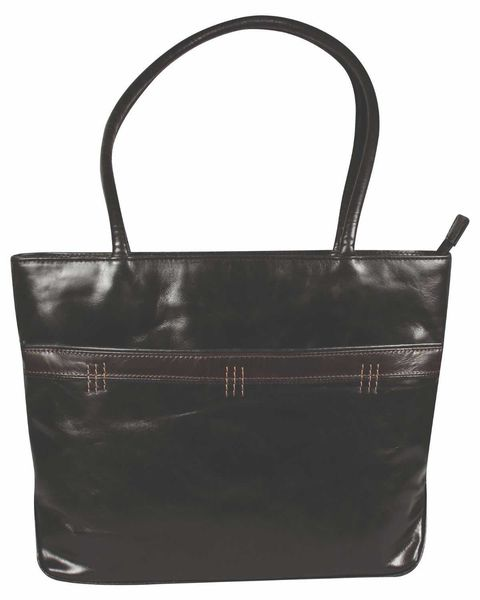Leather Tote Brown Handbag
